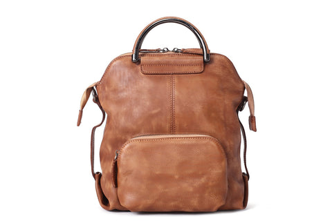 Shoulder Bag / Backpack Full Grain Leather, Ref: Mala  SR-246