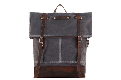 Waxed Canvas Backpack, Ref: Mala SR-269