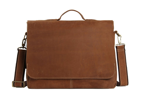 14'' Vintage Leather Briefcase, Bag Ref: Mala SR-010