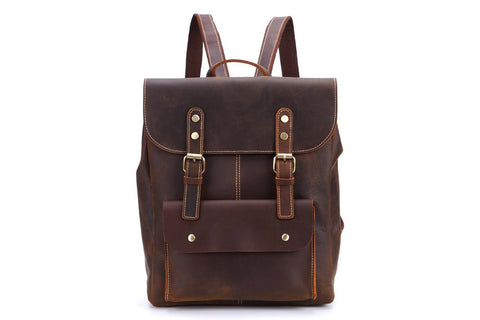 Vintage Leather Rucksack, Ref: Mala  SR-263
