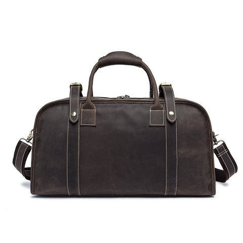 Handmade Men's leather Duffle Bag, Ref: Mala   SR-139