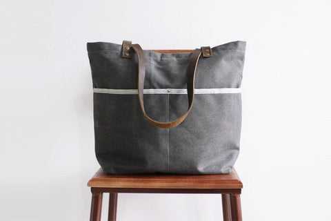 Waxed Canvas School Bag, Ref: Mala SR-278