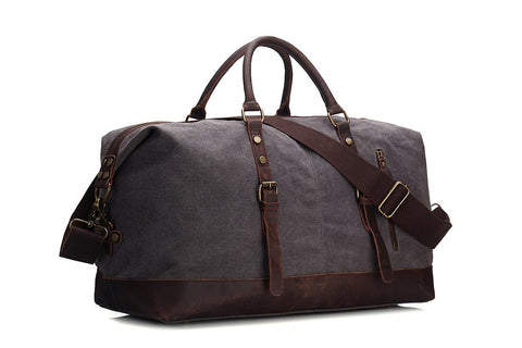 Handmade Waxed, Canvas  Travel Bag, Ref: Mala: SR-143