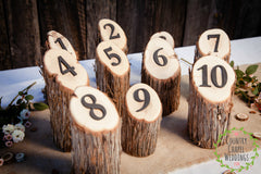 Table Numbers and Place Card Holders