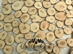 100 Assorted Wood Slices