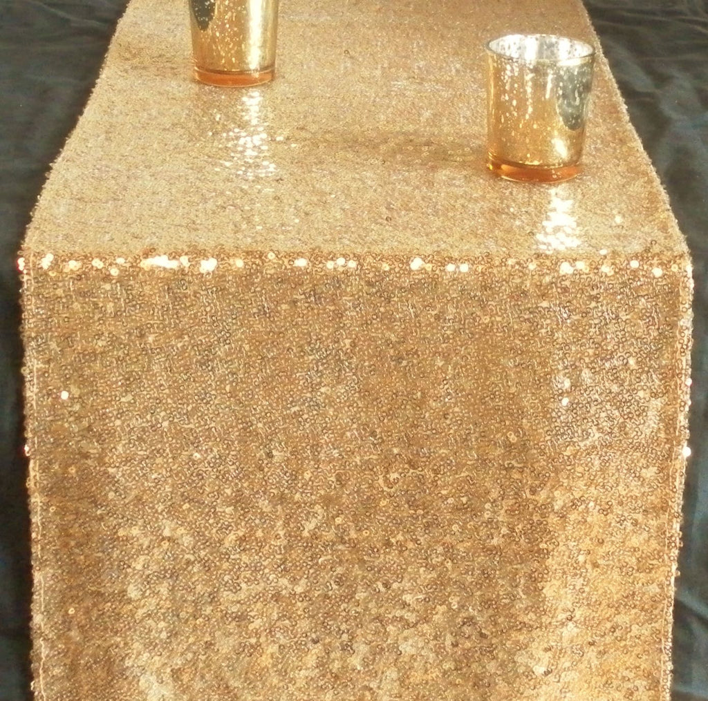 Gorgeous, Glittery and Gold Sequin Table Runner