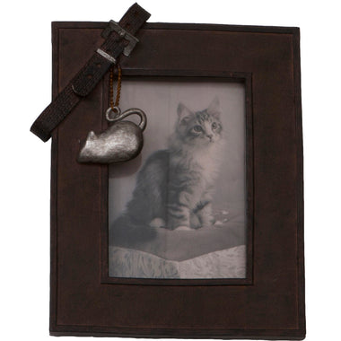 Picture Frame with Collar Cat
