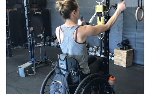 Wheelchair user at gym