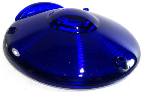 "lens replacement 4"" round blue plastic for Peterbilt Kenworth Freightliner"