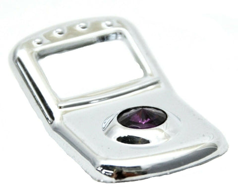 3-Rocker Switch Trims Covers Purple Jewel Chrome Plastic for Peterbilt 2006 & Up