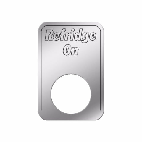 GG Indicator Plate for Kenworth Refridge On Stainless Steel Block Letters #68557