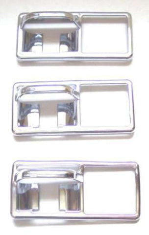 "3-Guarded Toggle SwitchTrims Chrome Plastic Older Freightliner 3 3/8"" x 1 1/2"""