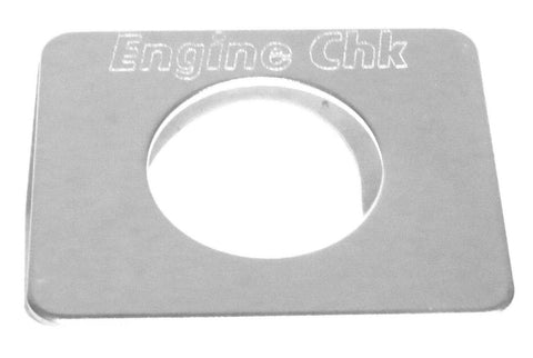 GG Switch Plate for Freightliner Engine Check Stainless Steel #68753