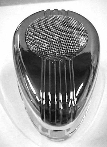 CB mic microphone cover plain chrome plastic for Road King 56 Peterbilt Kenworth