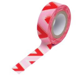 Trendy Tape Red and Pink Chevron Pattern
