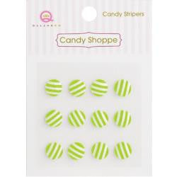 Queen & Co. - Candy Shoppe - Lime Green Stripers
