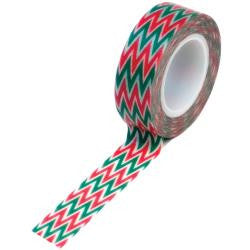 Trendy Tape Red and Green Chevron