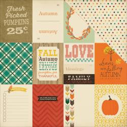 Fall Blessings - Journaling Cards 3x4