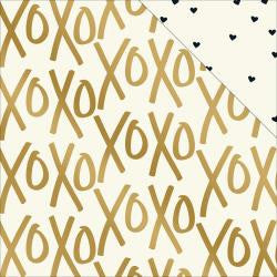 X's &O's - yes please foil paper-My Minds Eye