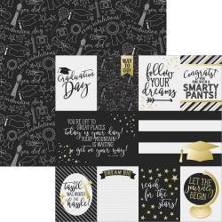 3x4 & 4x6 journaling Card Elements-Grad - simple stories