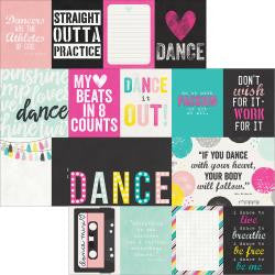 3x4 &4x6 journaling Card Elements - dance - simple stories