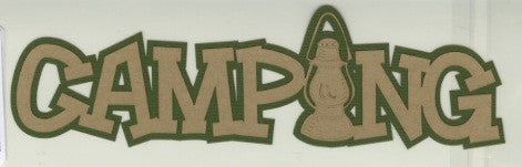 Camping Layered Die Cut