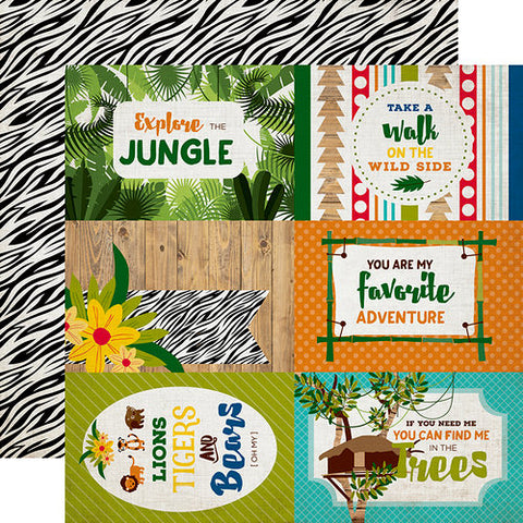 4x6 Journaling cards - Jungle Safari - Echo Park