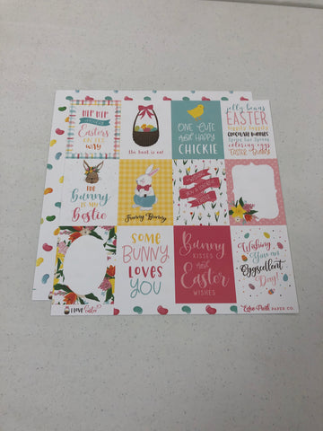 3 x 4 Journaling Cards - I Love Easter - 12 x12 paper