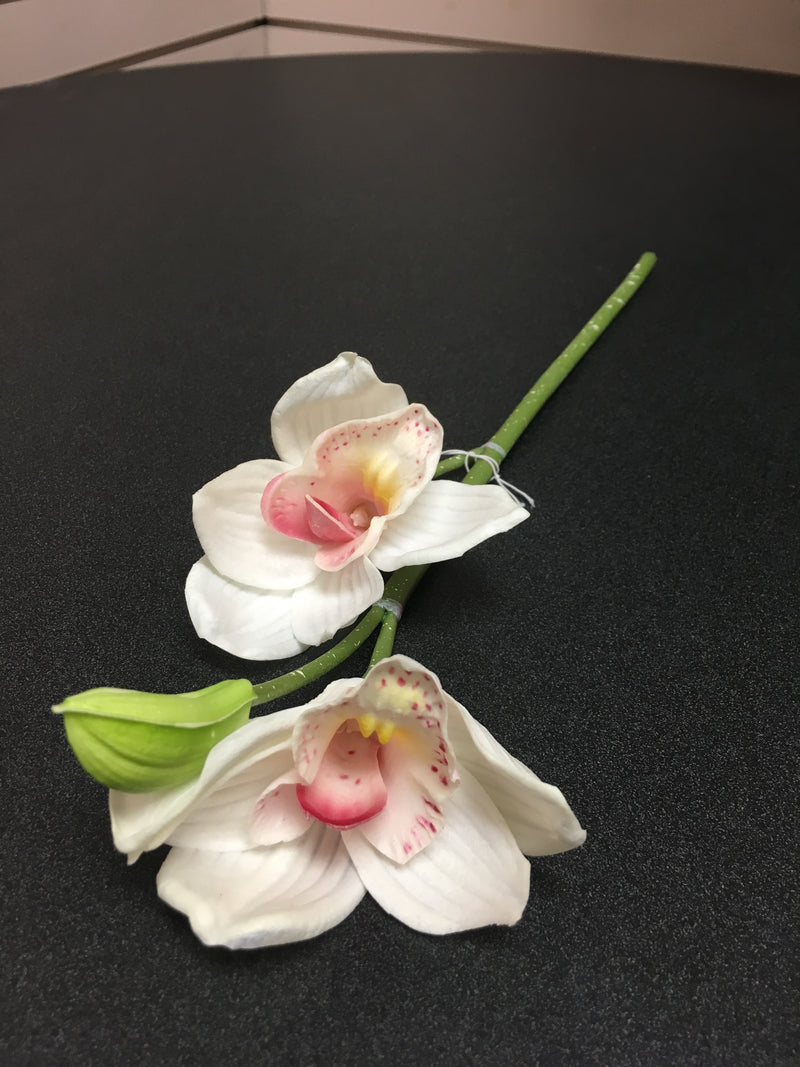 White Real Touch Orchid Flower