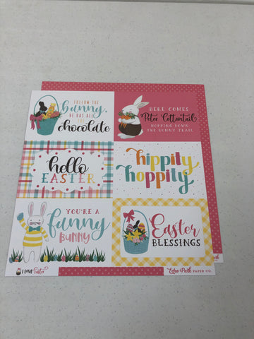 4 x 6 Journaling Cards - I Love Easter - 12 x12 paper