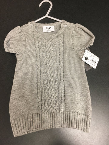 12-18 month Grey Cable Dress