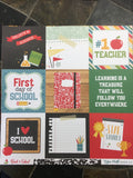 4x4 JOURNALING CARDS - BACK TO SCHOOL