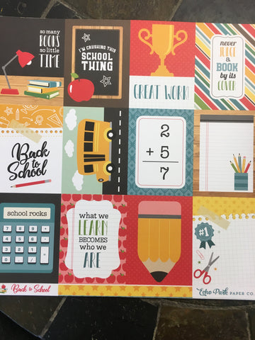 3X4 JOURNALING CARDS - BACK TO SCHOOL