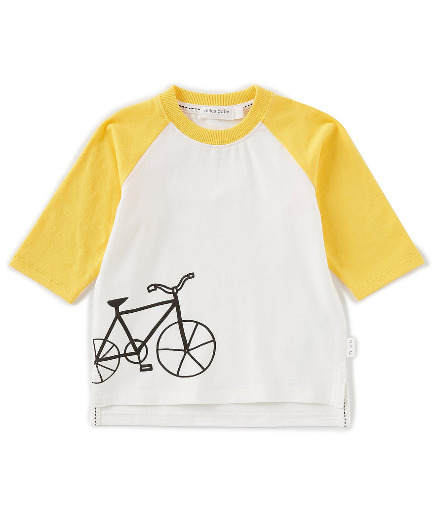 Yellow Henley Bike Shirt