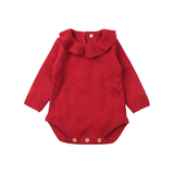 Elsa Bella Baby - Audrey Knitting Pattern Romper (Red)