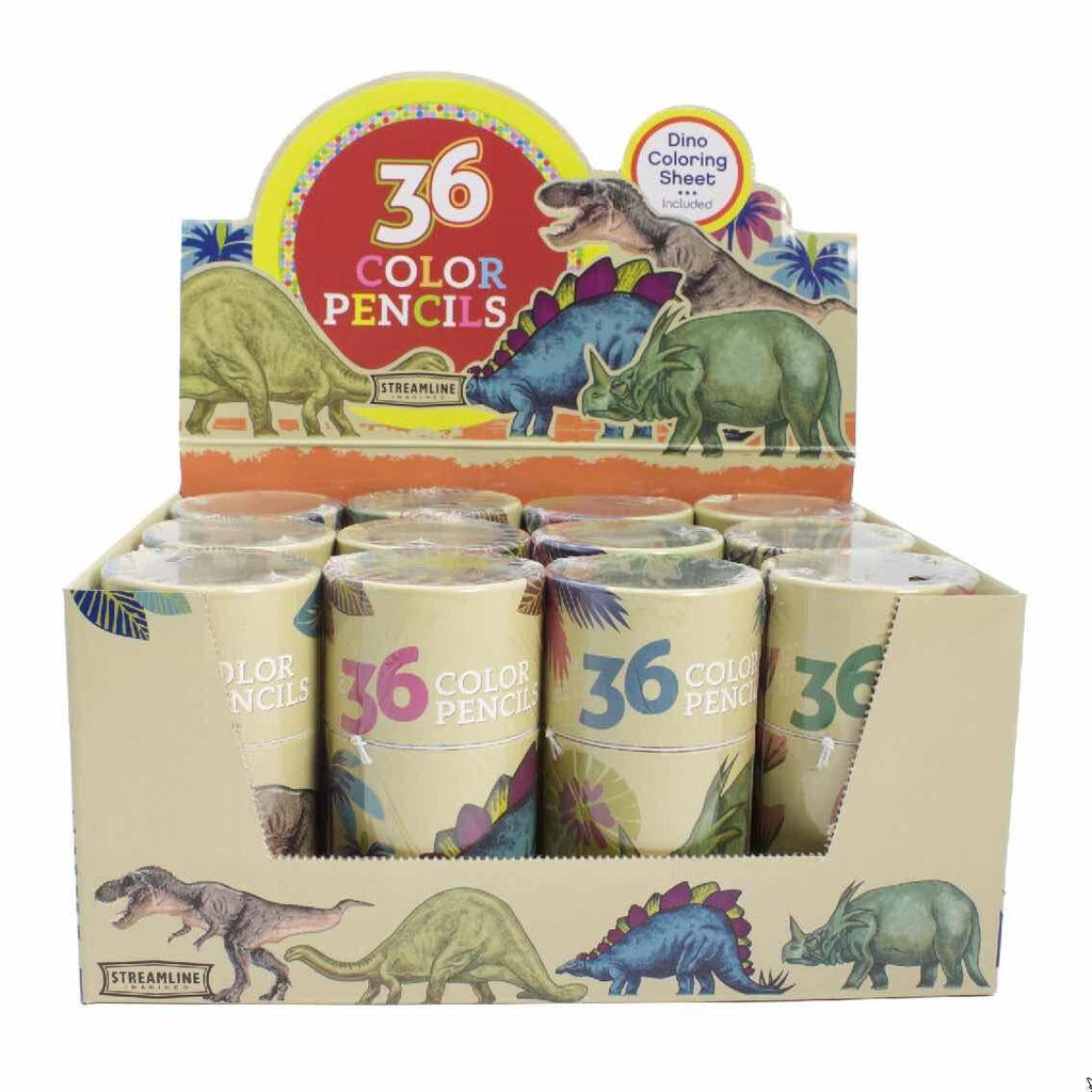 Streamline - Dinosaur Mini Color Pencil 36 Pc Set