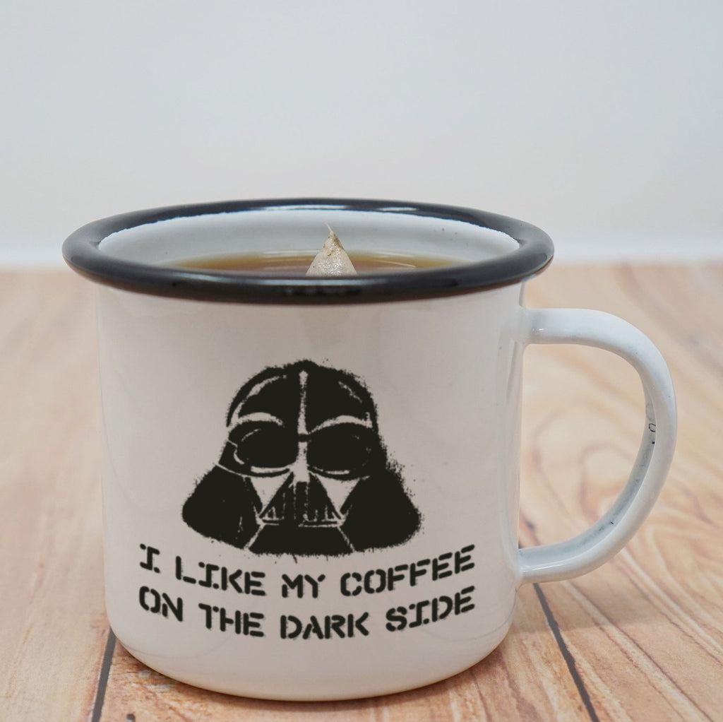 Enamel Co. - 12oz - I Like My Coffee on the Dark Side Enamel Mug