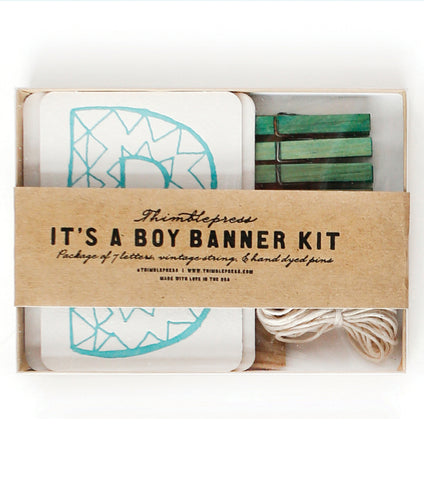 IT'S A BOY Letterpress DIY Banner Kit
