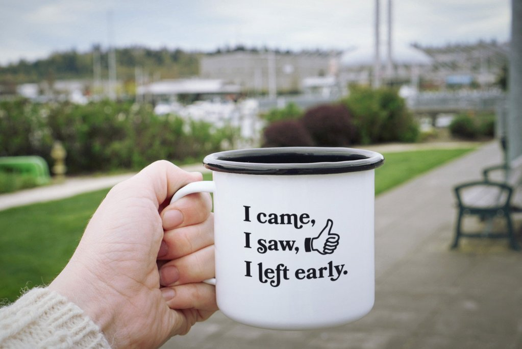 Enamel Co. - 12oz - I Came, I Saw, I Left Early Camp Mug