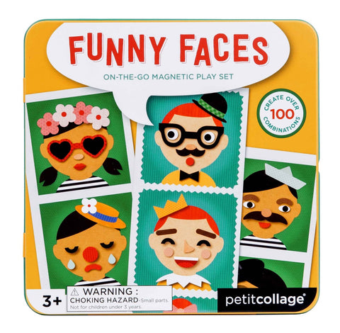 Petitcollage Funny Faces On-the-Go Playset