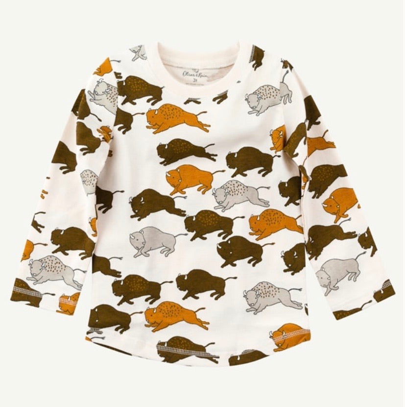 Oliver & Rain Buffalo Toddler Tee