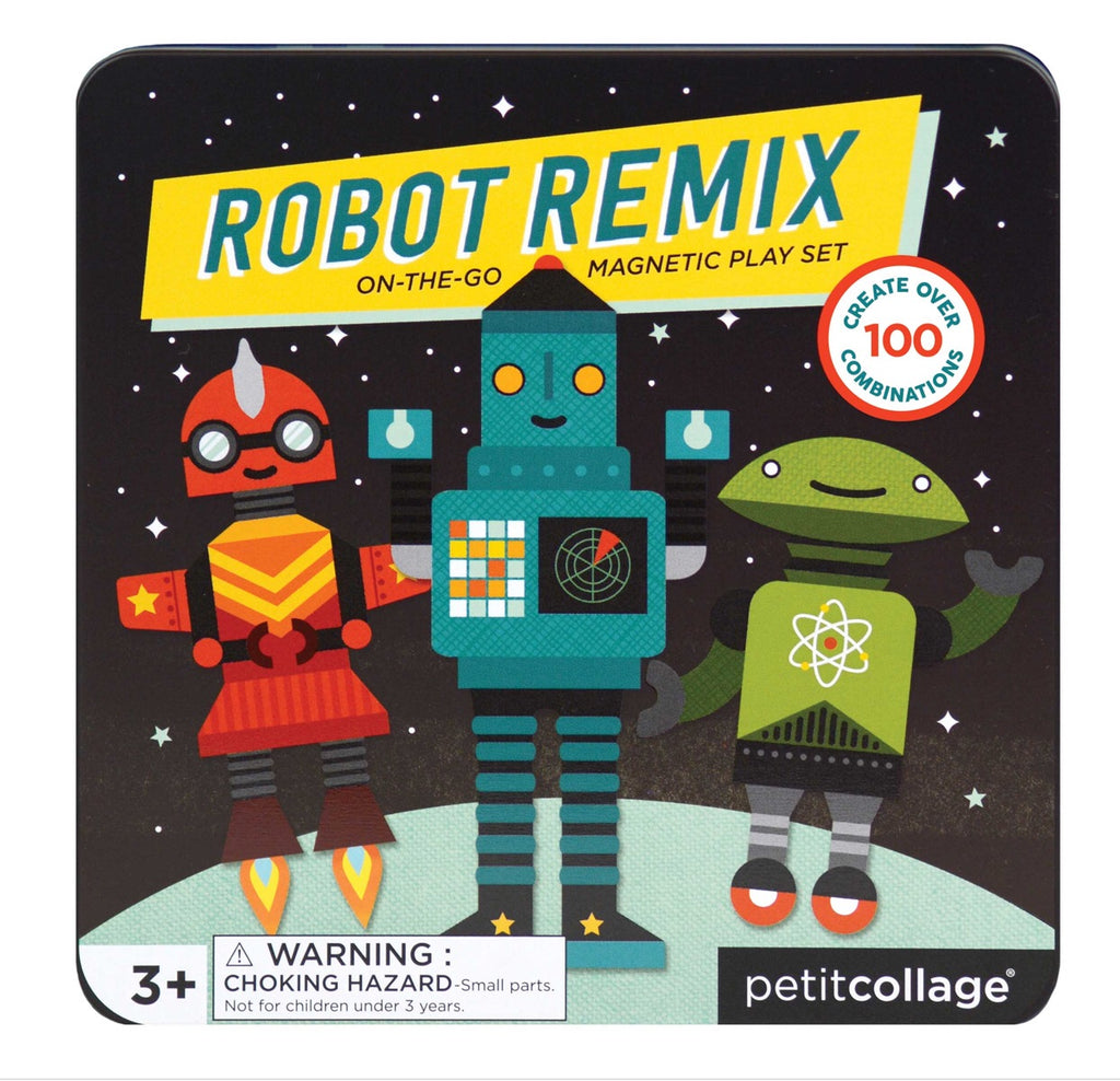 Petitcollage Robot Remix On-the-Go Playset