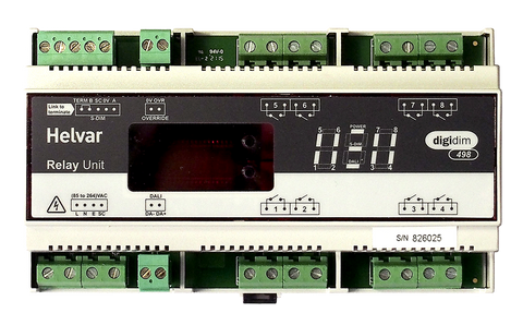 Helvar DIGIDIM 498 8-Channel Relay Unit