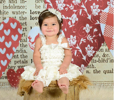Vintage Ivory Chiffon Tier lace dress - Happy BOWtique - children's clothing, Baby Girl clothing