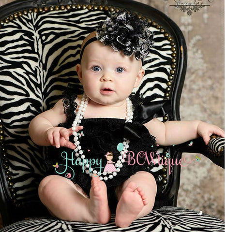 Gorgeous Black Lace Petti Romper - Happy BOWtique - children's clothing, Baby Girl clothing