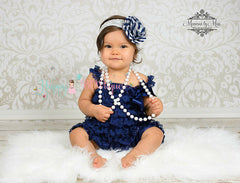 Girl Navy Blue Lace Dress ~ Baby Girl Navy Petti Lace Dress  ~ This dress is gorgeous on.