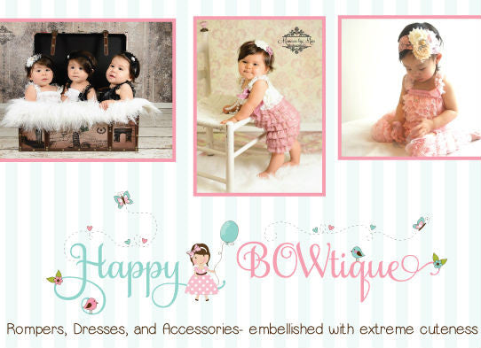Gift Card - Happy BOWtique - children's clothing, Baby Girl clothing