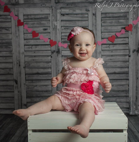 Shades of Pink Hearts Romper Set - Happy BOWtique - children's clothing, Baby Girl clothing