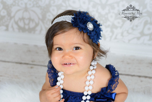 Girl Navy Blue Lace Dress ~ Baby Girl Navy Petti Lace Dress - Happy BOWtique - children's clothing, Baby Girl clothing