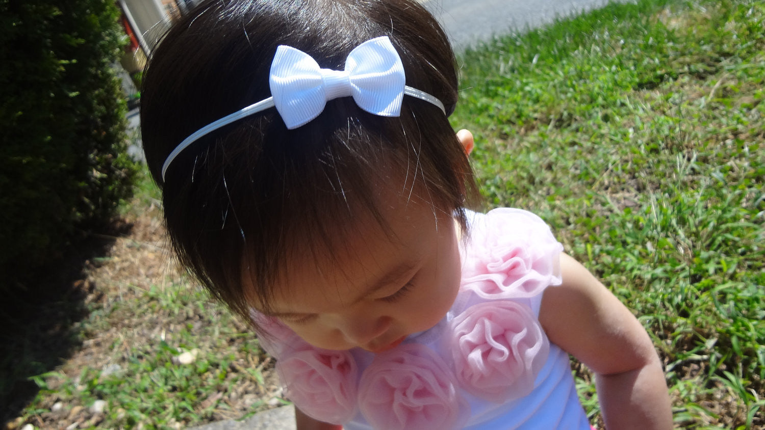 3acf97a72395 Petite White Bow Headband - Happy BOWtique - children s clothing